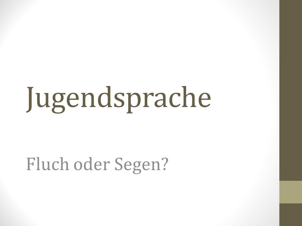 Schon Goethe sagte….