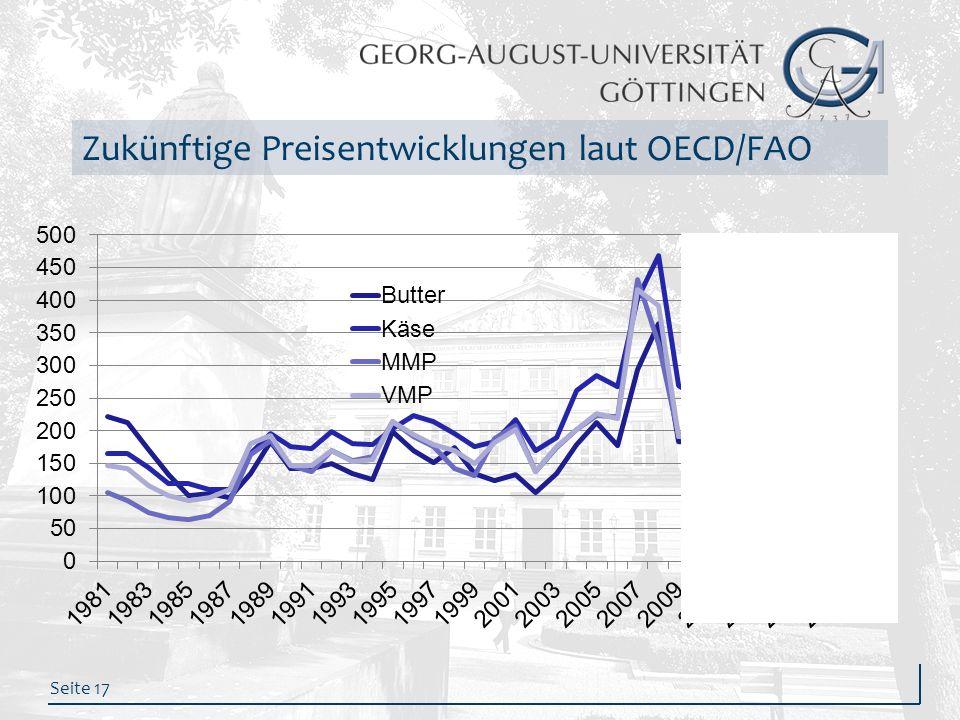 Seite 17 Zukünftige Preisentwicklungen laut OECD/FAO