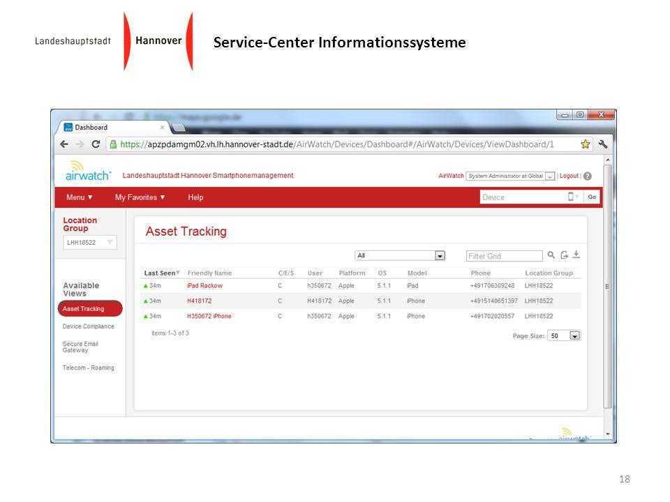 Service-Center Informationssysteme 18