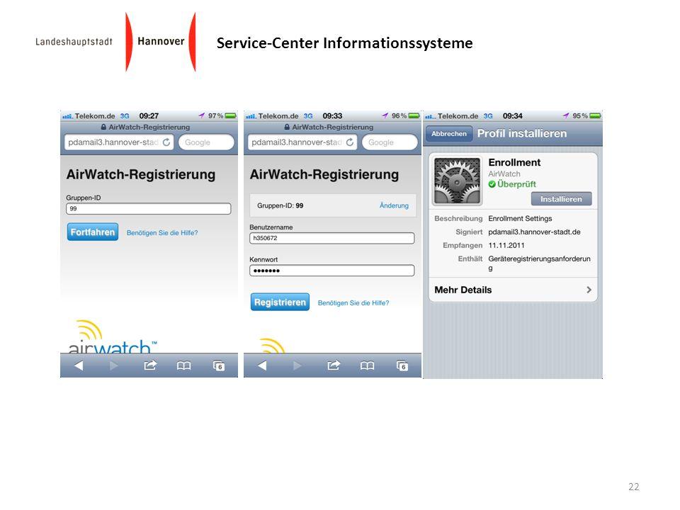 Service-Center Informationssysteme 22