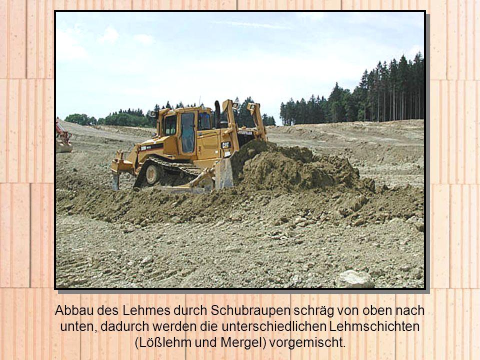 Die Hoffläche zum Lagern der Ziegelpakete wurde beim Neubau von Werk II um 20.000 m² erweitert.