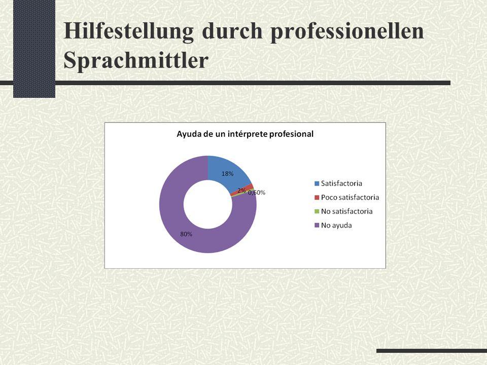 Hilfestellung durch professionellen Sprachmittler