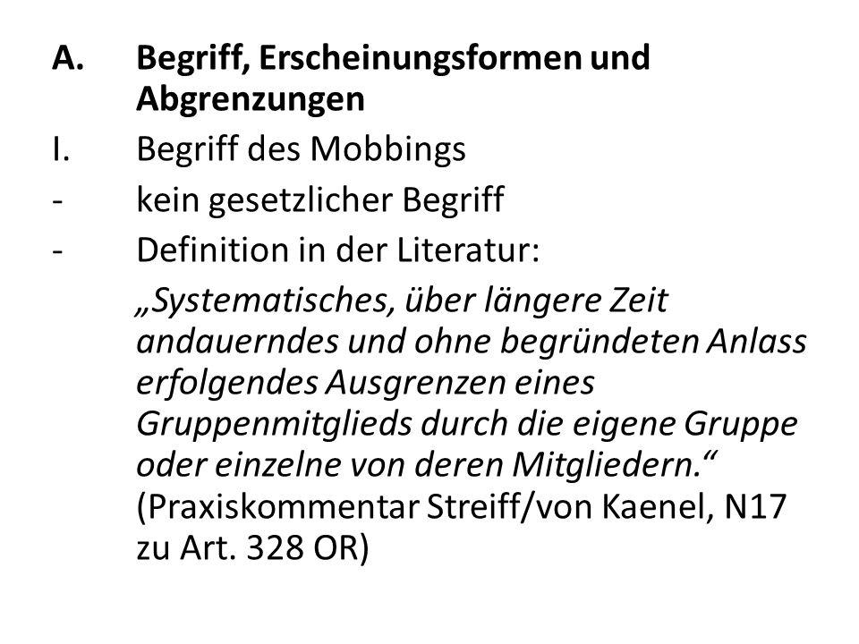 IV.Schutz des Whistleblowers im Arbeitsprivatrecht I.de lege lata Art.