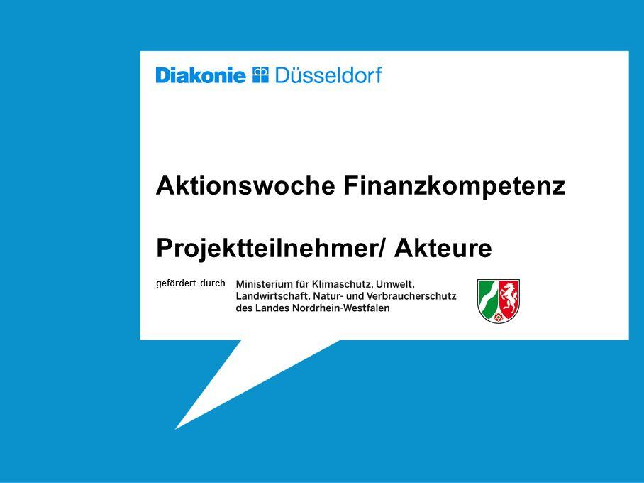 Aktionswoche Finanzkompetenz Projektteilnehmer/ Akteure gefördert durch