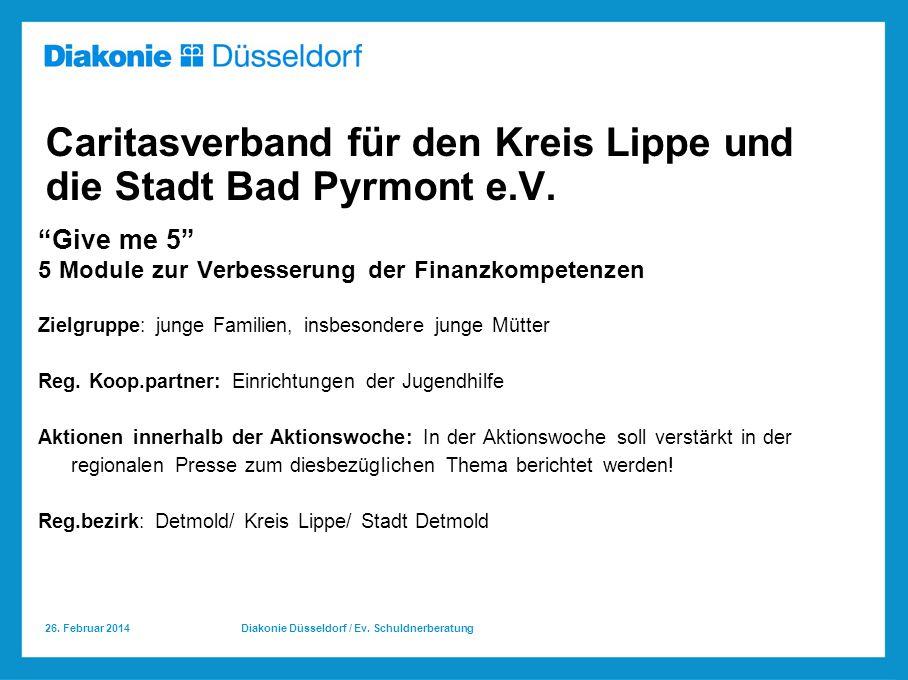 26.Februar 2014 Diakonie Düsseldorf / Ev.