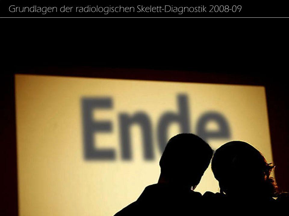 Grundlagen der radiologischen Skelett-Diagnostik 2008-09