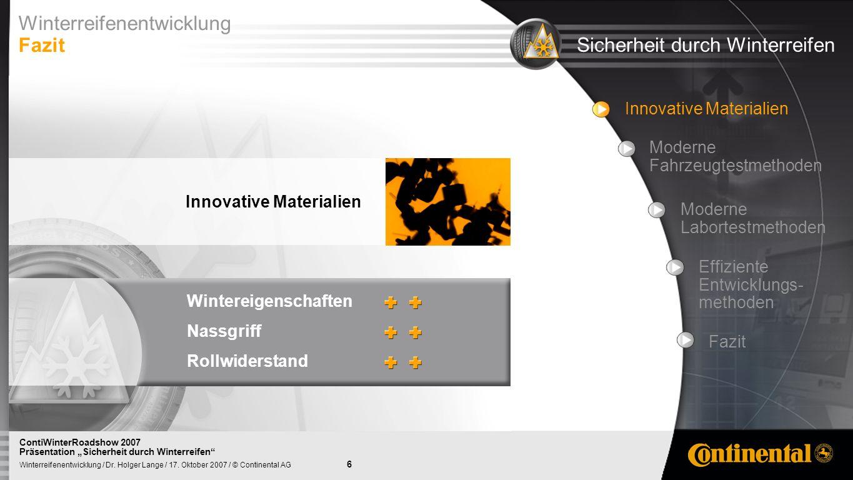 7 Winterreifenentwicklung / Dr.Holger Lange / 17.