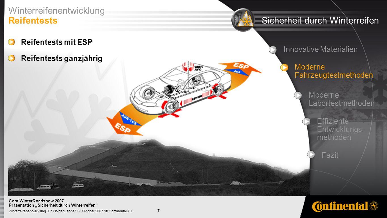 8 Winterreifenentwicklung / Dr.Holger Lange / 17.