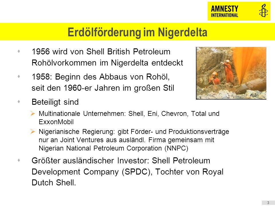 sGas- und Erdölförderung macht knapp 80 Prozent der Staatseinnahmen Nigerias aus sMit Erdöl wurde seit den 1960-er Jahren ca.