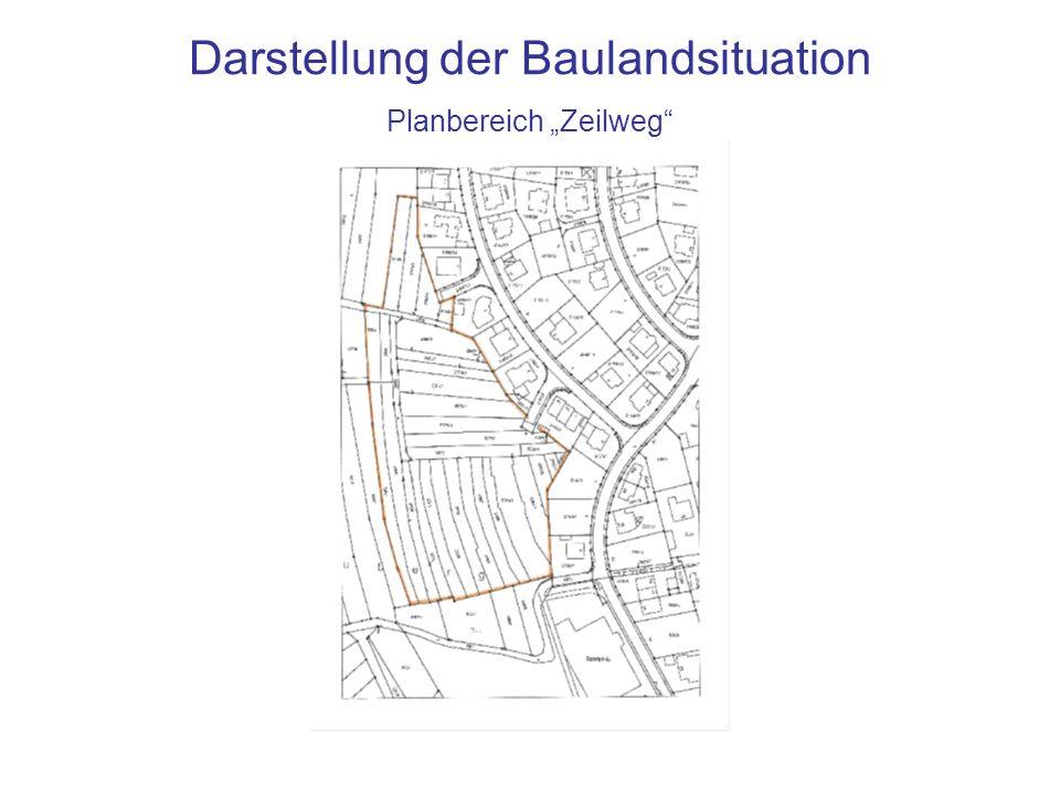Darstellung der Baulandsituation Planbereich Zeilweg