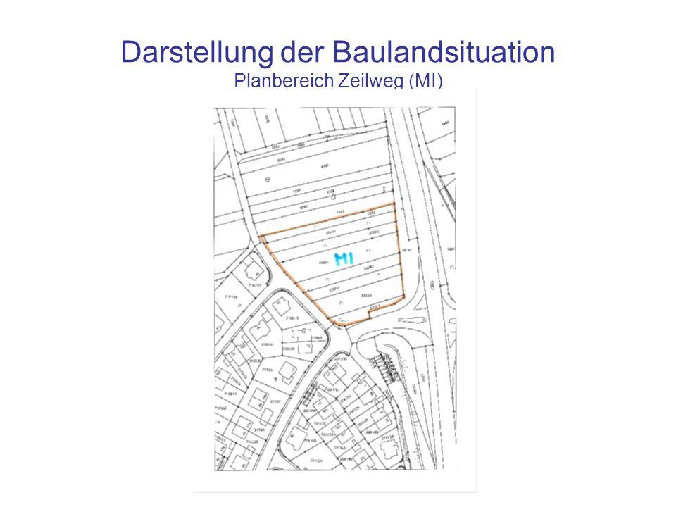 Darstellung der Baulandsituation Planbereich Zeilweg (MI)