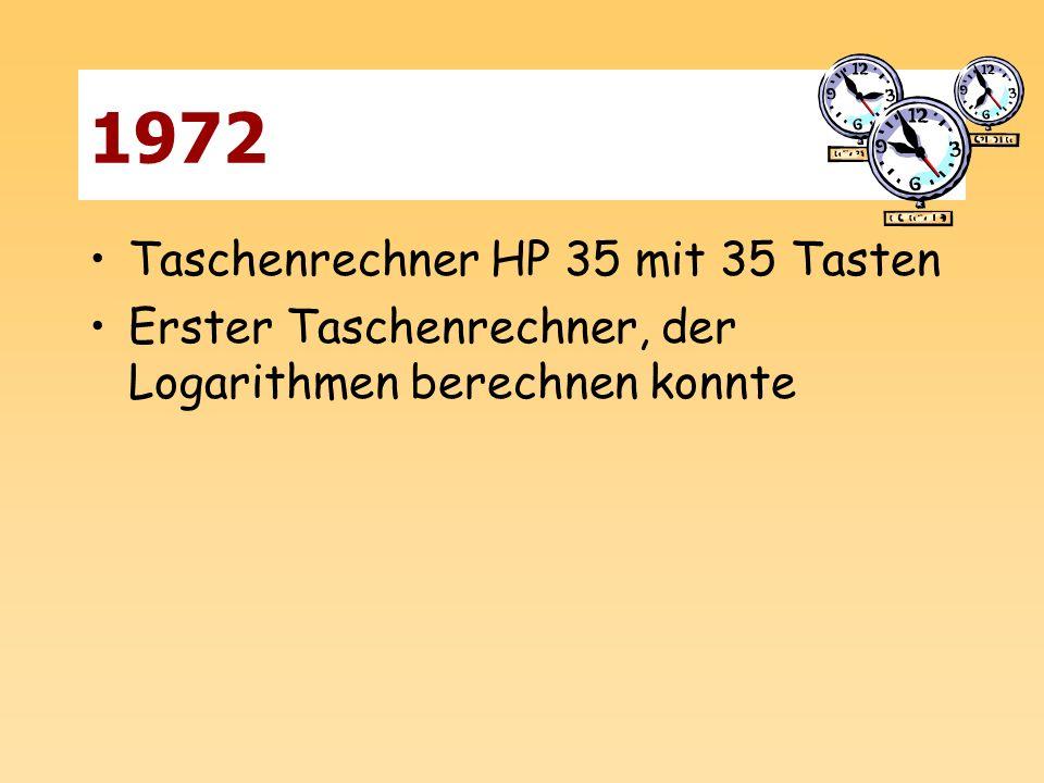 1972 Taschenrechner HP 35 mit 35 Tasten Erster Taschenrechner, der Logarithmen berechnen konnte