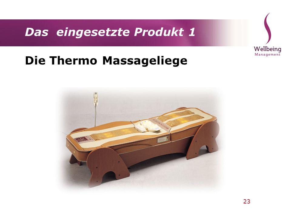 23 Das eingesetzte Produkt 1 Die Thermo Massageliege
