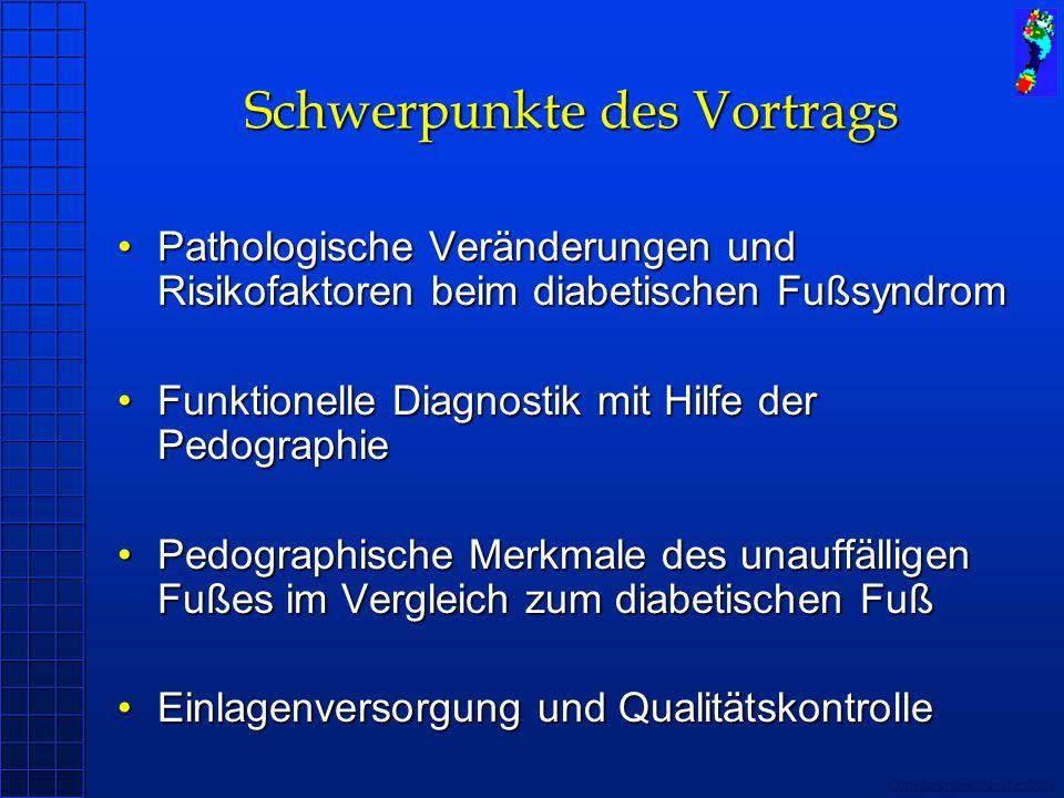 Copyright novel München 2004 Schwerpunkte des Vortrags Pathologische Veränderungen und Risikofaktoren beim diabetischen FußsyndromPathologische Veränd