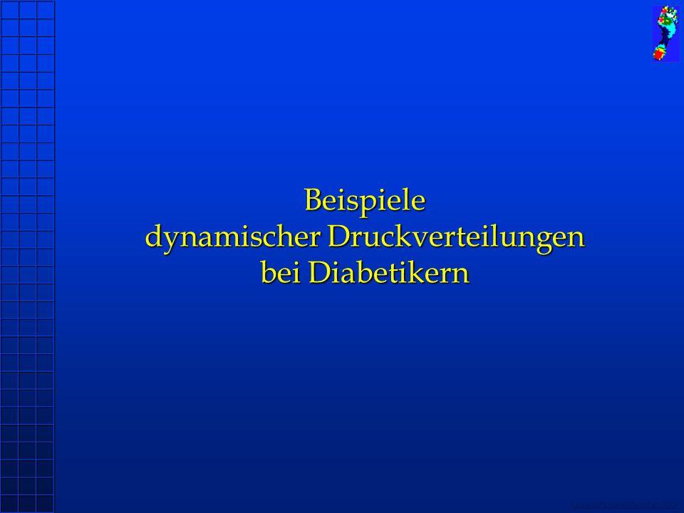 Copyright novel München 2004 Beispiele dynamischer Druckverteilungen bei Diabetikern