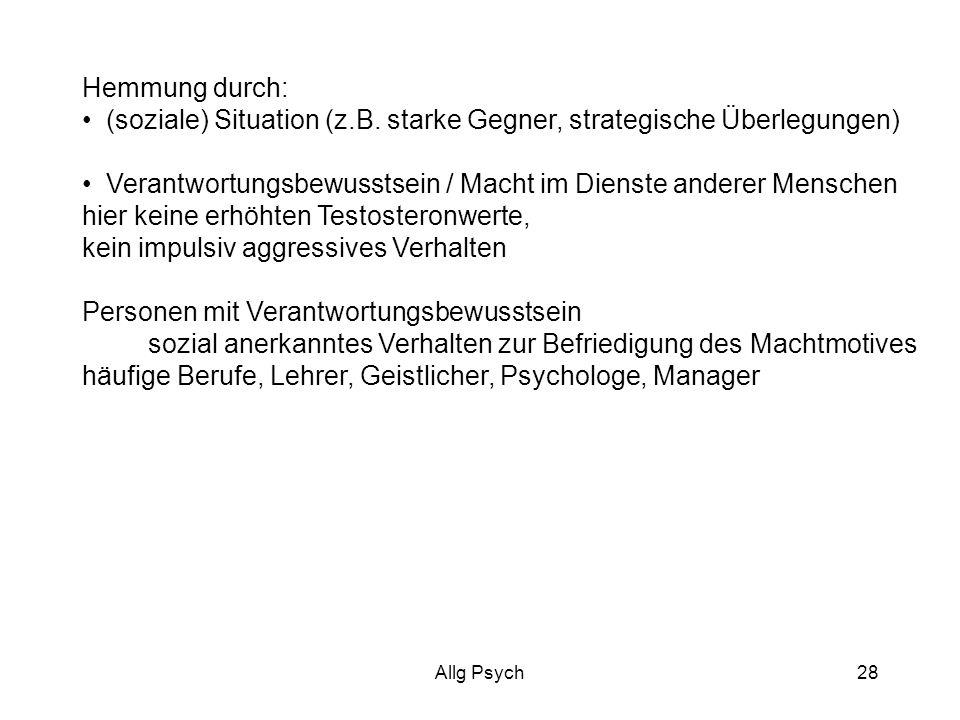 Allg Psych28 Hemmung durch: (soziale) Situation (z.B.