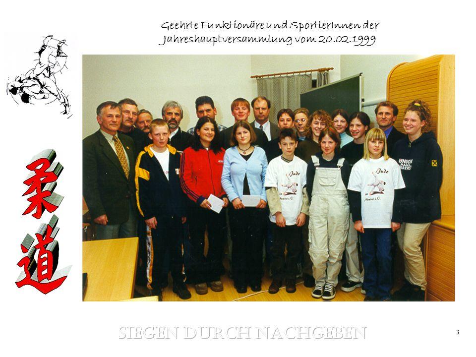 3 Geehrte Funktionäre und SportlerInnen der Jahreshauptversammlung vom 20.02.1999