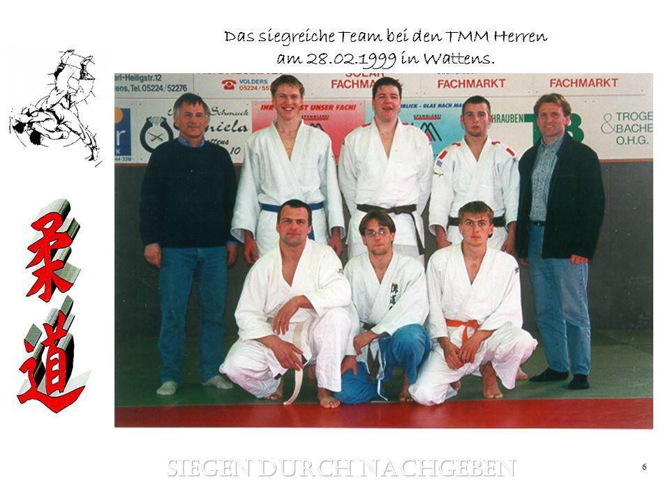 6 Das siegreiche Team bei den TMM Herren am 28.02.1999 in Wattens.
