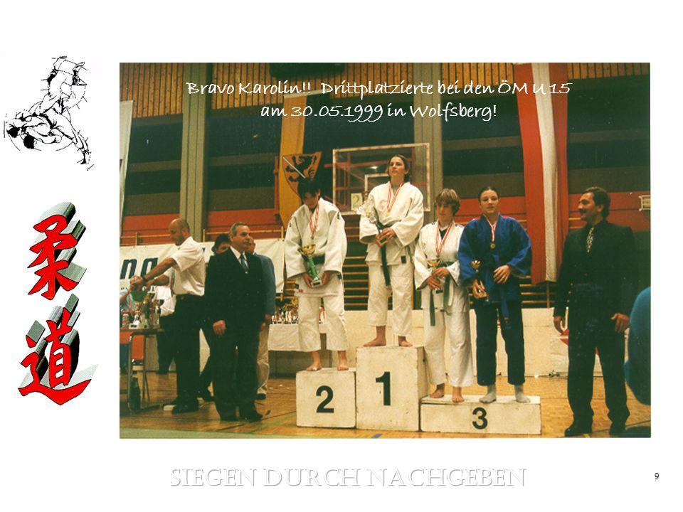 9 Bravo Karolin!! Drittplatzierte bei den ÖM U 15 am 30.05.1999 in Wolfsberg!
