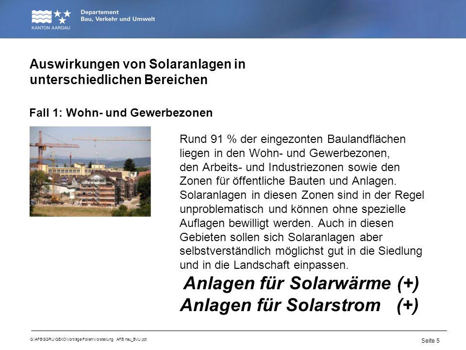 Seite 5 G:\AFB\SGRU\GEKO\Vorträge\Folien\Vorstellung AFB neu_BVU.ppt Rund 91 % der eingezonten Baulandflächen liegen in den Wohn- und Gewerbezonen, de