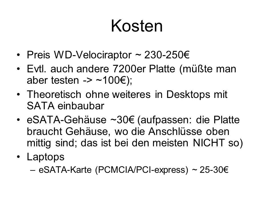 Kosten Preis WD-Velociraptor ~ 230-250 Evtl.