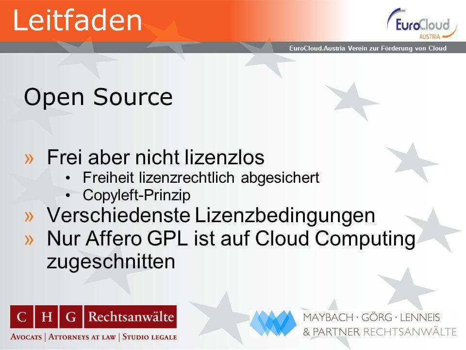 EuroCloud.Austria Verein zur Förderung von Cloud Computing Subdienstleister »Zusätzliche Komplexitätsebene »Verschiedene mögliche Dienstleistungen Hardwareseitig.