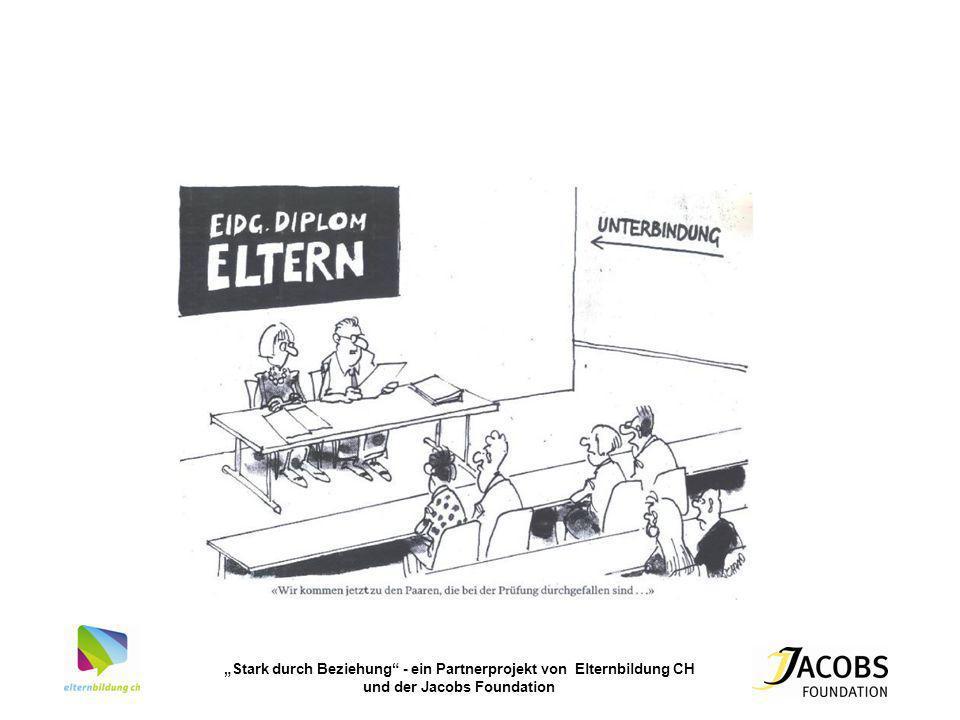 Stark durch Beziehung - ein Partnerprojekt von Elternbildung CH und der Jacobs Foundation