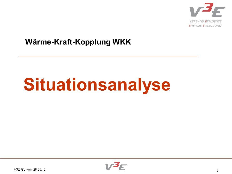 V3E GV vom 28.05.10 3 Wärme-Kraft-Kopplung WKK Situationsanalyse