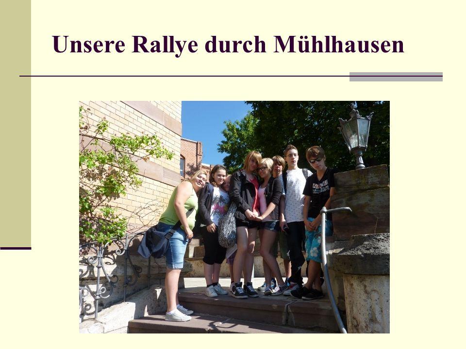 Unsere Rallye durch Mühlhausen