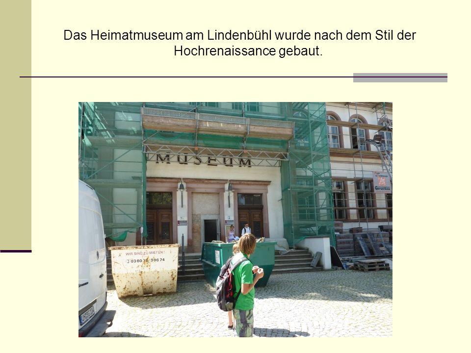 Das Heimatmuseum am Lindenbühl wurde nach dem Stil der Hochrenaissance gebaut.