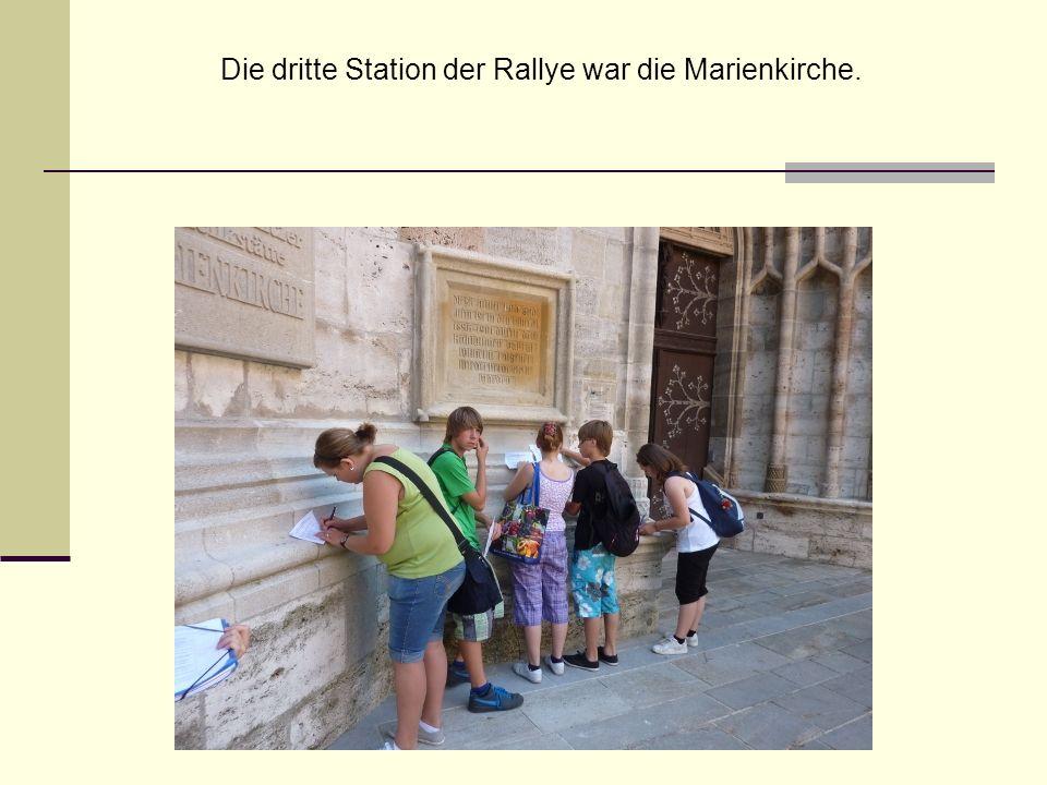 Die dritte Station der Rallye war die Marienkirche.