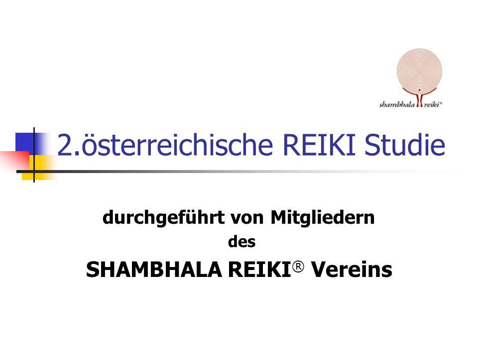 2.österreichische REIKI Studie durchgeführt von Mitgliedern des SHAMBHALA REIKI ® Vereins