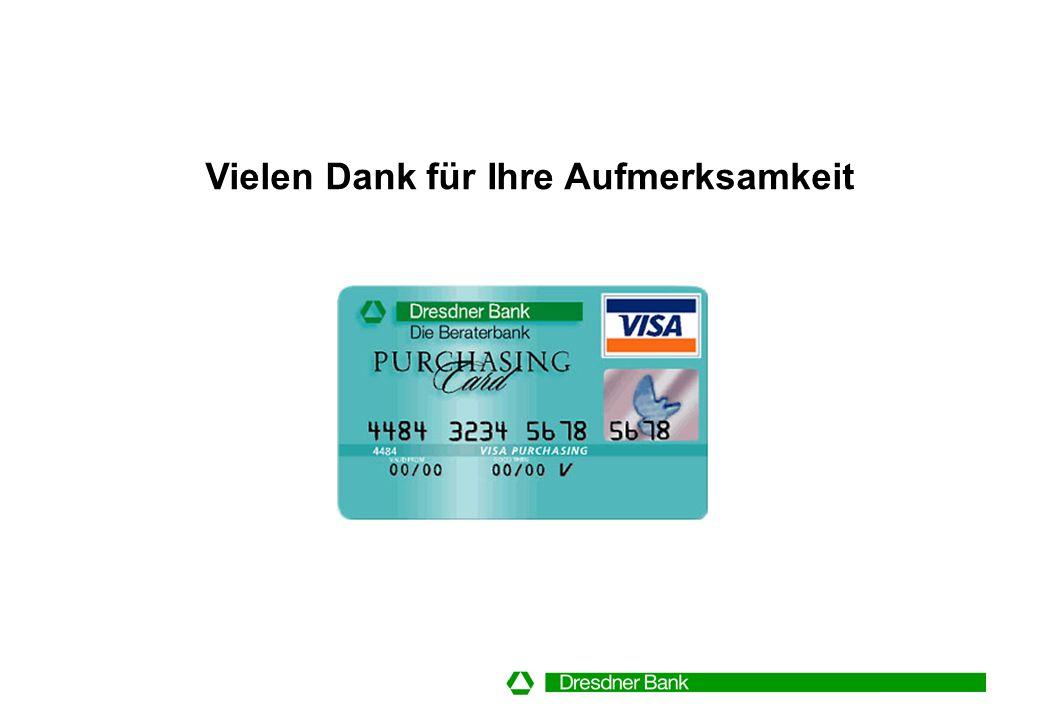 Eins passt zum anderen: Dresdner Purchasing System Beratung Implementierungs- unterstützung Kundenservice Transaktions- abwicklung Dresdner Purchasing