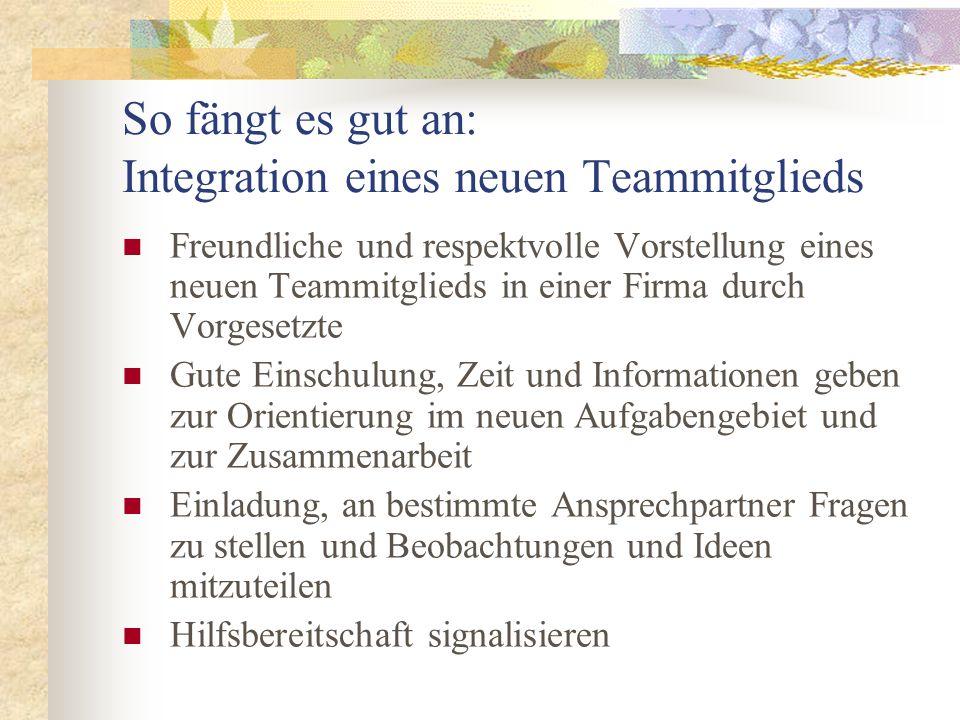 So fängt es gut an: Integration eines neuen Teammitglieds Freundliche und respektvolle Vorstellung eines neuen Teammitglieds in einer Firma durch Vorg