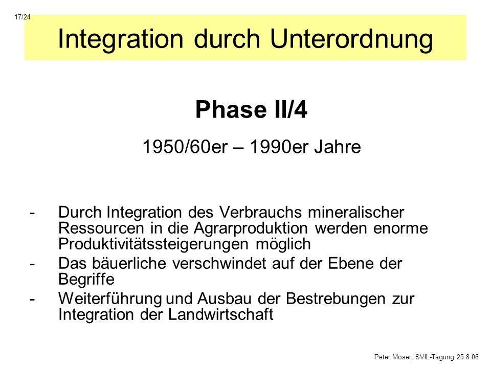 Integration durch Unterordnung -Durch Integration des Verbrauchs mineralischer Ressourcen in die Agrarproduktion werden enorme Produktivitätssteigerun