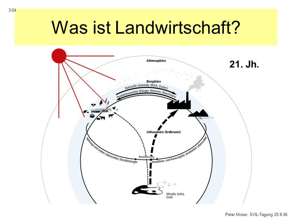 Was ist Landwirtschaft? 21. Jh. Peter Moser, SVIL-Tagung 25.8.06 3/24