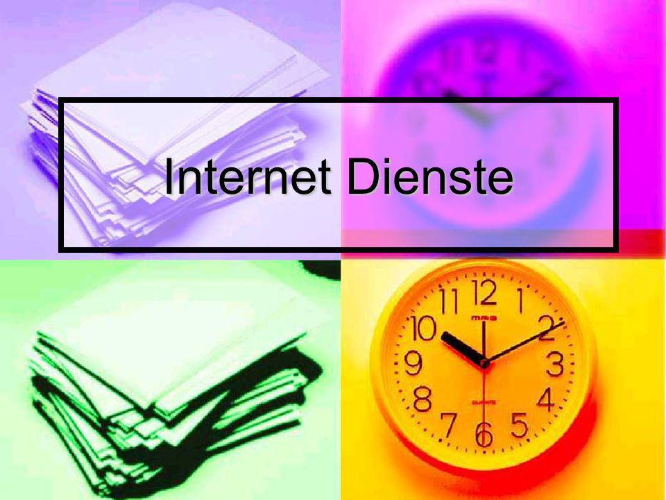 Überblick Einleitung Einleitung Das Internet Das Internet Was ist ein Internet Dienst.
