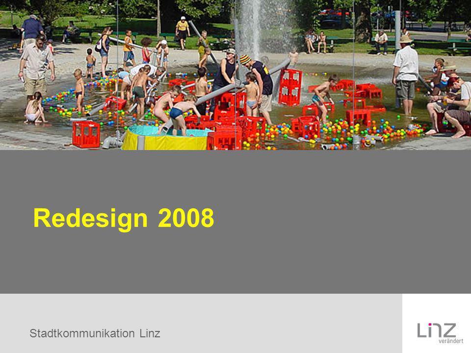 Stadtkommunikation Linz Redesign 2008