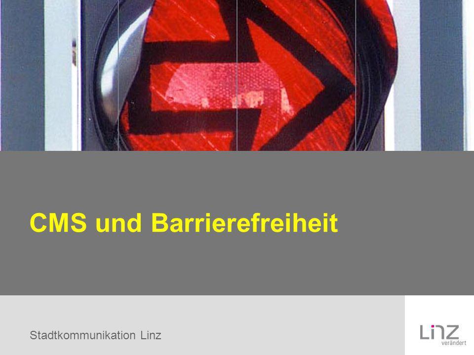 Stadtkommunikation Linz CMS und Barrierefreiheit