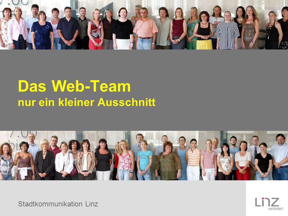 Stadtkommunikation Linz Das Web-Team nur ein kleiner Ausschnitt