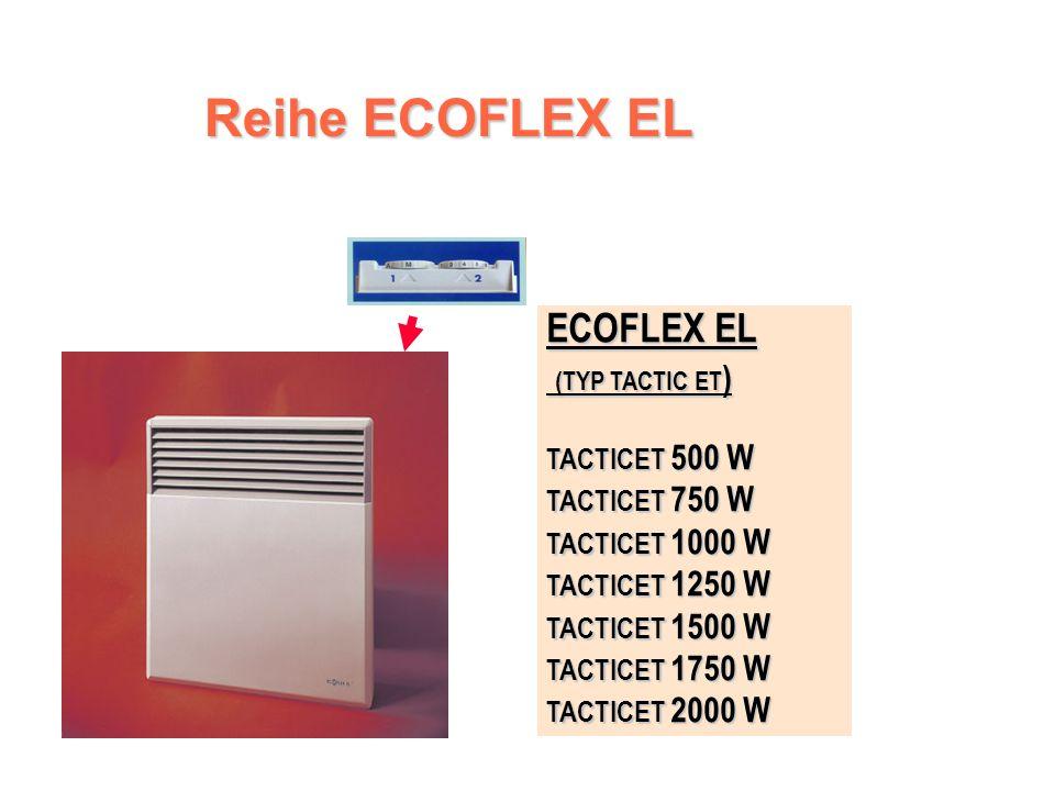 ECOFLEX EL - Steuereinheit Ein-Aus-Schalter Ein-Aus-Schalter Kalibrierte und abschließbare Zifferscheibe des Thermostates mit der Position Frostfreier Betrieb Kalibrierte und abschließbare Zifferscheibe des Thermostates mit der Position Frostfreier Betrieb Funktionskontrollleuchte Funktionskontrollleuchte