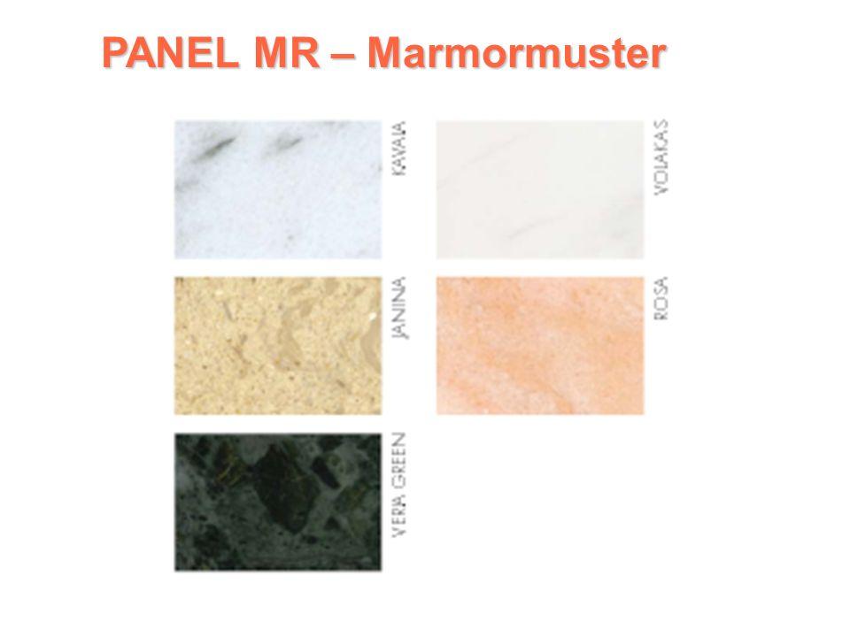 PLATTE MR PLATTE MR Marmorstrahlplatte 1 Reihe: Horizontale Ausführung Wärmesicherung 80 °C Temperaturregelung durch zusätzlichen Zimmerthermostat Lieferung des Handtuchtrockeners möglich