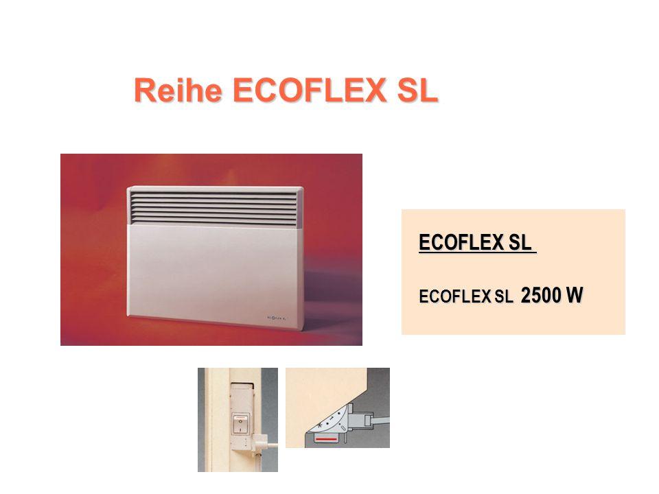 ECOFLEX SL – Steuereinheit Ein-Aus-Schalter Ein-Aus-Schalter Kalibrierte und abschließbare Zifferscheibe des Thermostates mit der Position Frostfreier Betrieb Kalibrierte und abschließbare Zifferscheibe des Thermostates mit der Position Frostfreier Betrieb Funktionskontrollleuchte Funktionskontrollleuchte