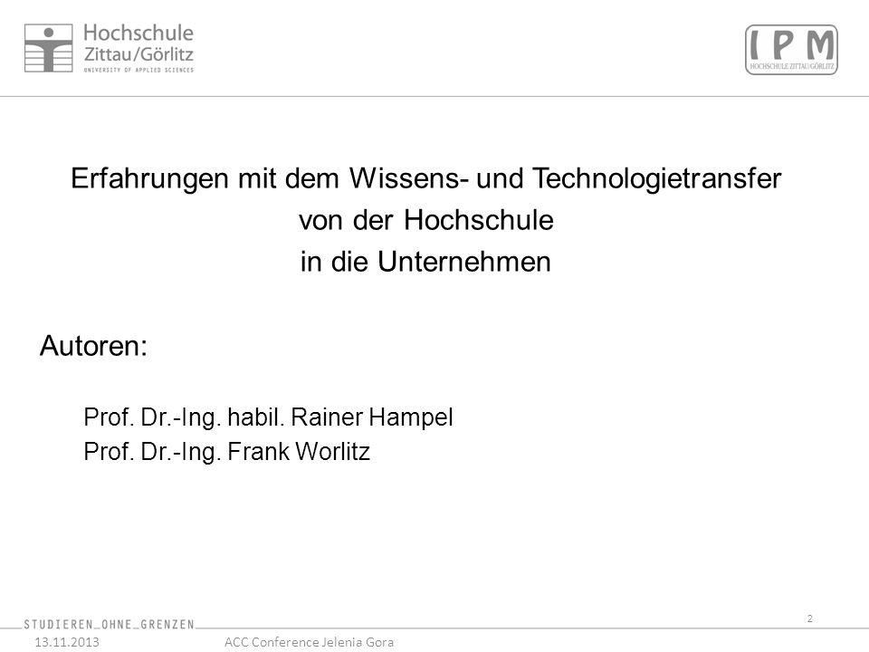 23 13.11.2013ACC Conference Jelenia Gora AML Kreiselpumpe für das KW Boxberg Erprobung bei KSB
