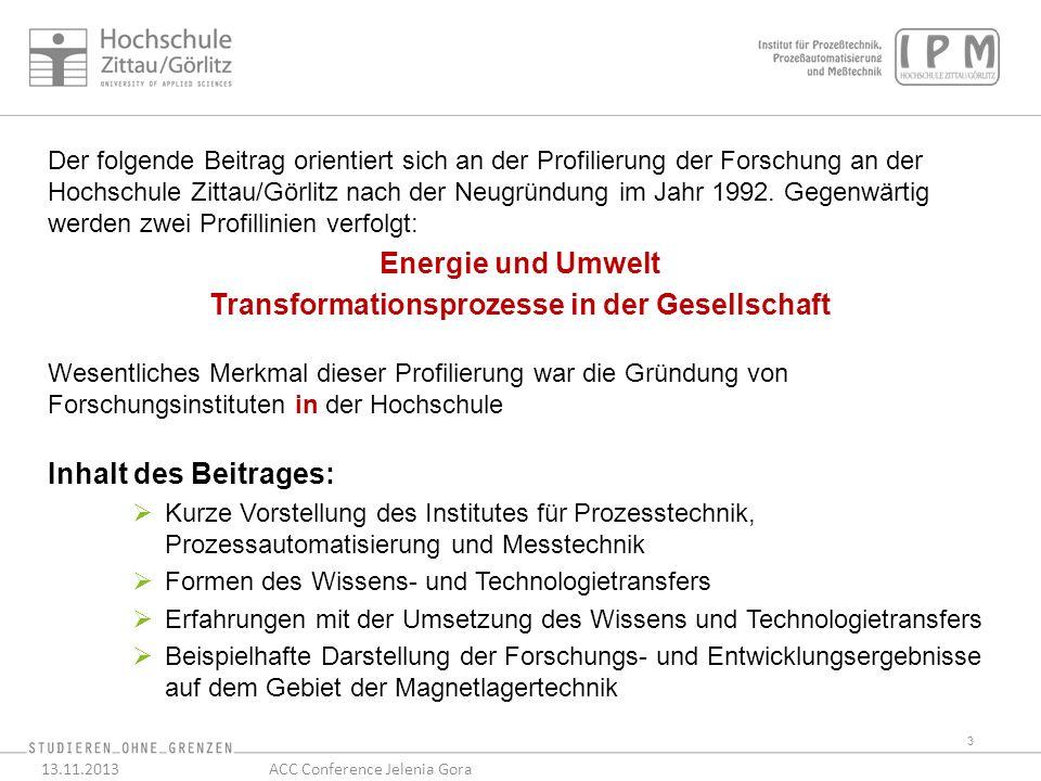 Der folgende Beitrag orientiert sich an der Profilierung der Forschung an der Hochschule Zittau/Görlitz nach der Neugründung im Jahr 1992.