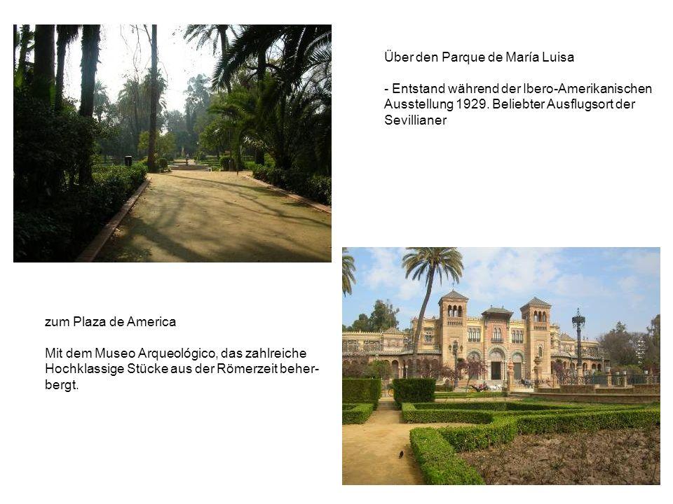 Über den Parque de María Luisa - Entstand während der Ibero-Amerikanischen Ausstellung 1929.