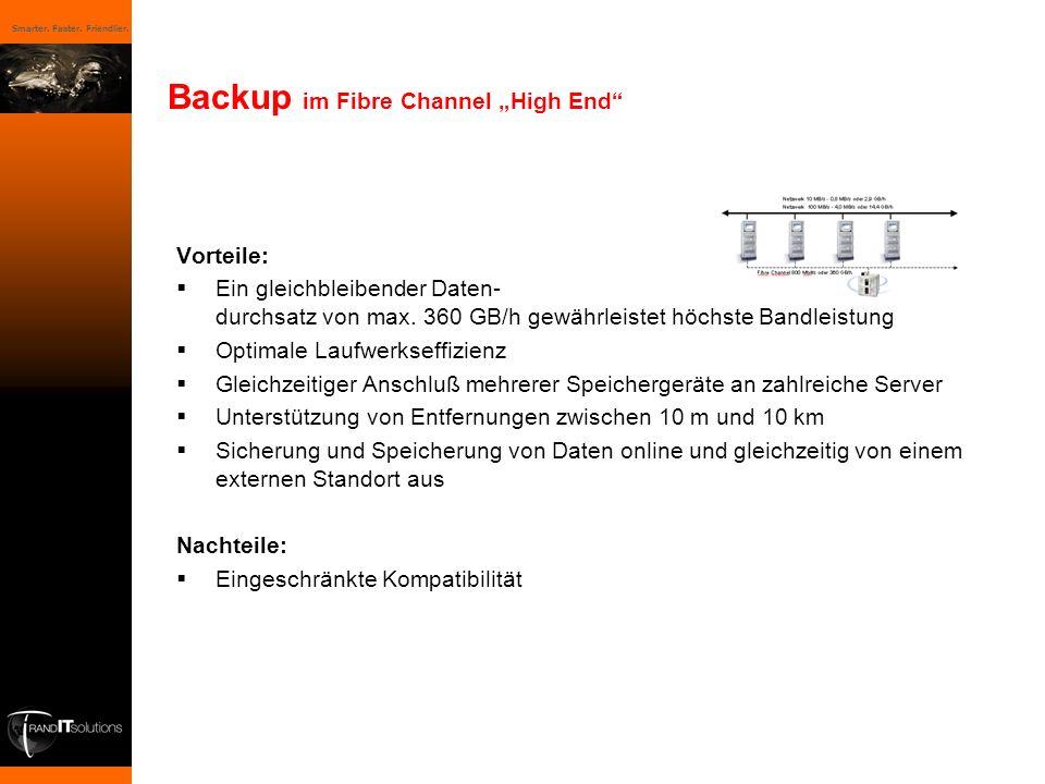 Smarter. Faster. Friendlier. Vorteile: Ein gleichbleibender Daten- durchsatz von max. 360 GB/h gewährleistet höchste Bandleistung Optimale Laufwerksef