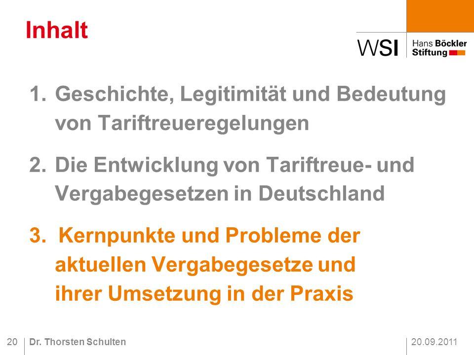 20.09.2011Dr.Thorsten Schulten20 1.