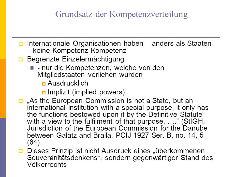 Verhältnis zu anderen multilateralen Verträgen Article 103 UNC -> lex superior In the event of a conflict between the obligations of the Members of the United Nations under the present Charter and their obligations under any other international agreement, their obligations under the present Charter shall prevail.
