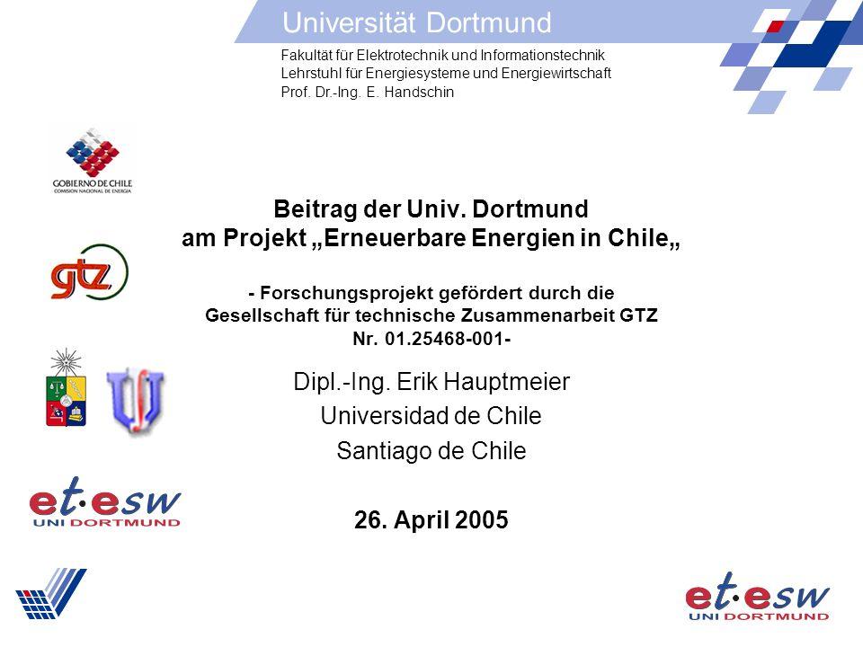 2 Gliederung Situation in Chile Motivation des Projektes Gliederung des Projektes Zusammenfassung